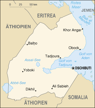Dschibuti-map