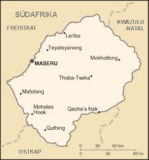 LesothoKarte