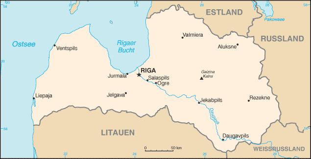 LettlandKarte