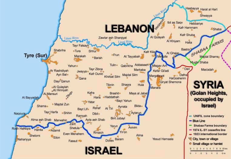LibanonKarte