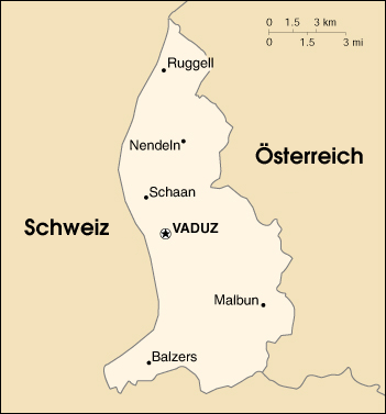 Liechtenstein-map-german