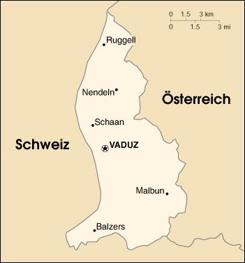 Liechtenstein-map-german