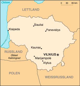LitauenKarte