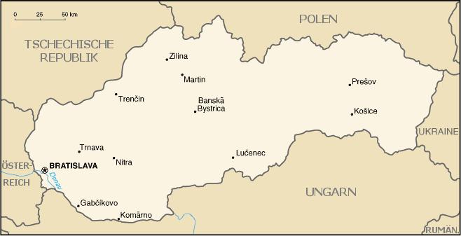 Karte_Slowakei