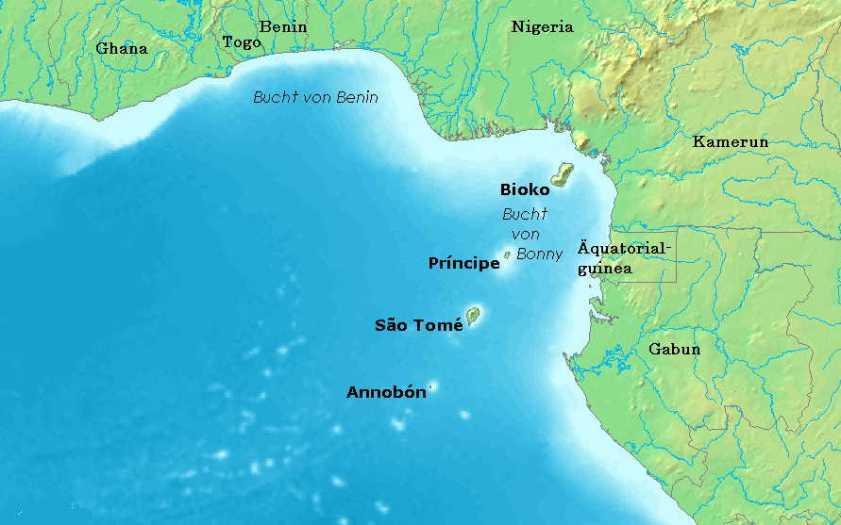 Sao Tome Karte
