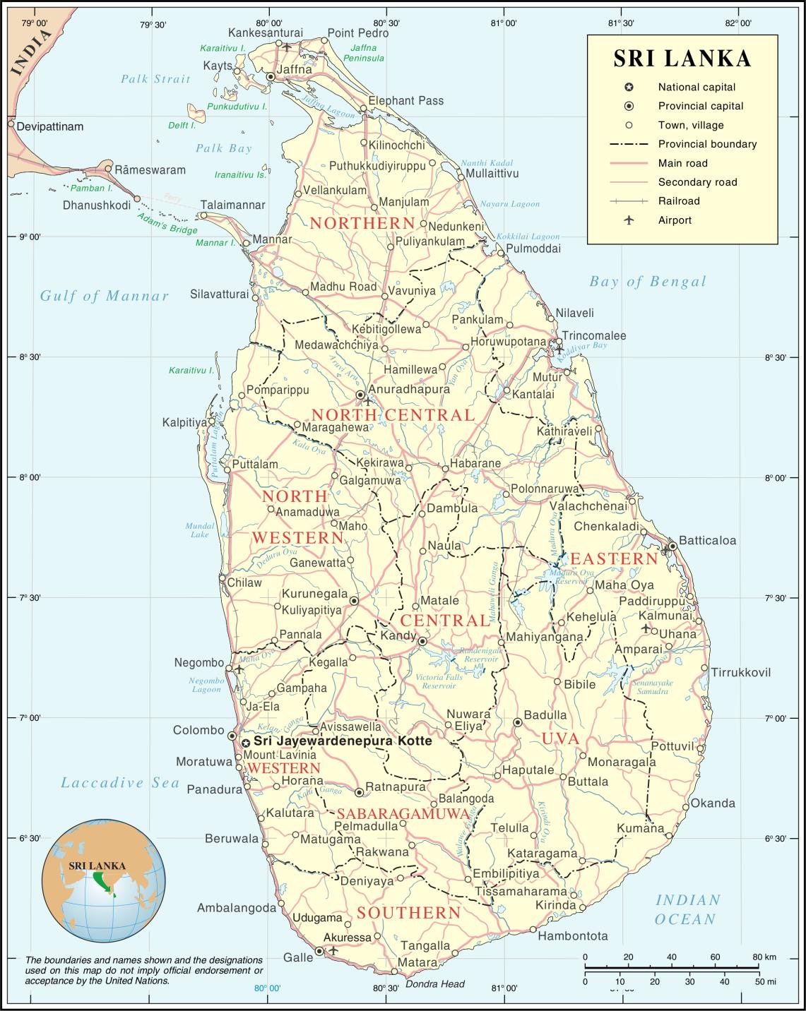 SriLankaKarte