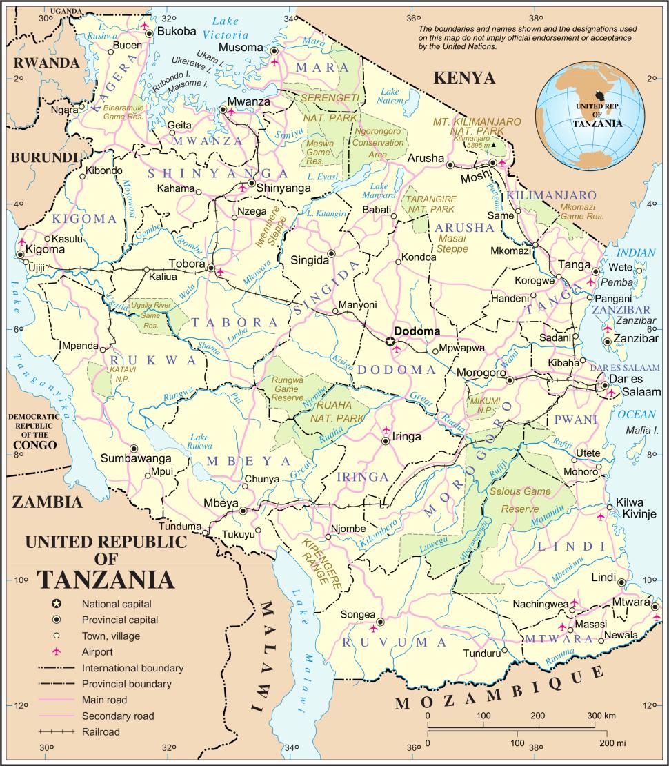 TansaniaKarteUn-tanzania