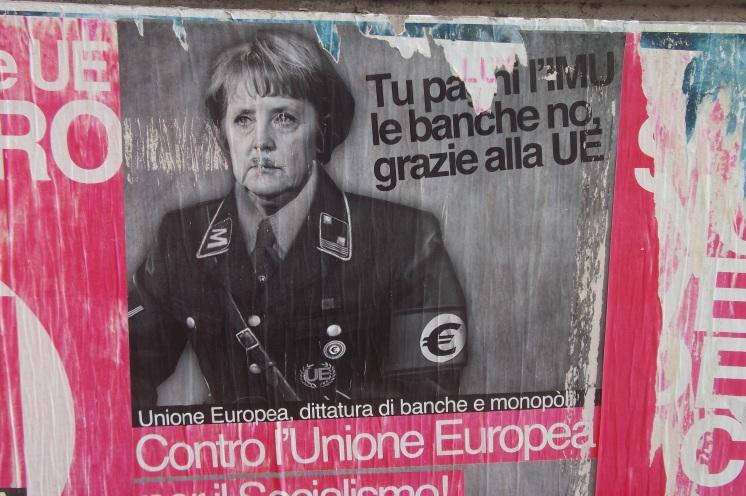 Anti-Merkel-Plakat © Wolfgang Stoephasius