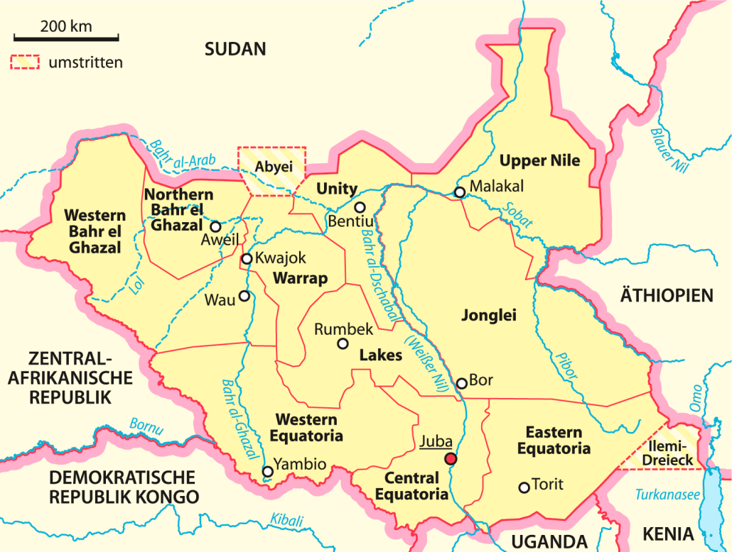 Südsudan_Bundesstaaten