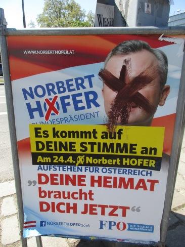 Hofer-Wahlplakat © Wolfgang Stoephasius