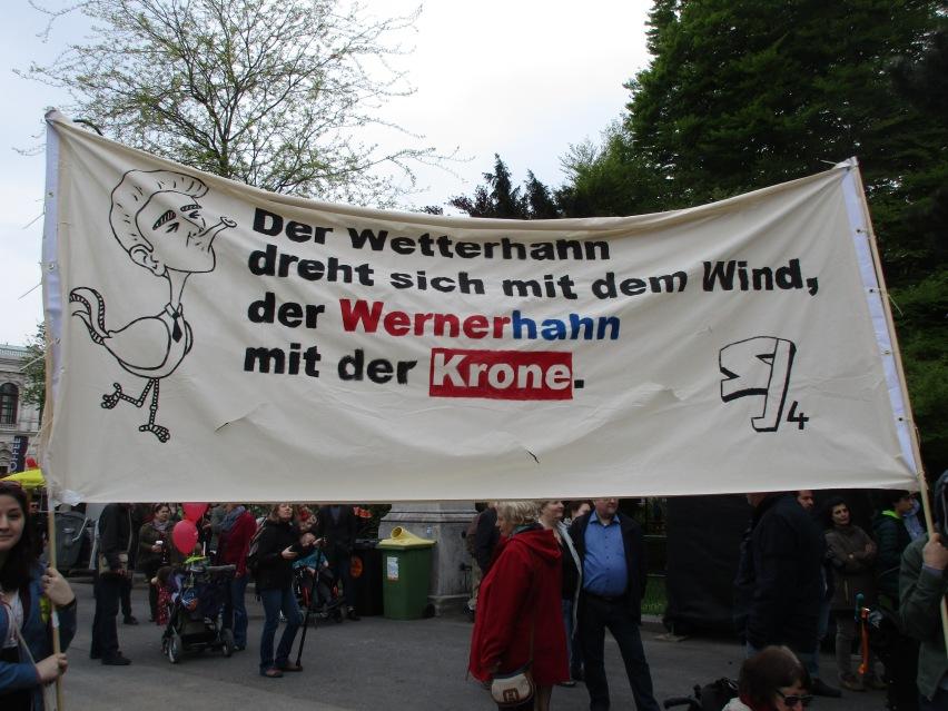 Anti-Faymann-Transparent © Wolfgang Stoephasius