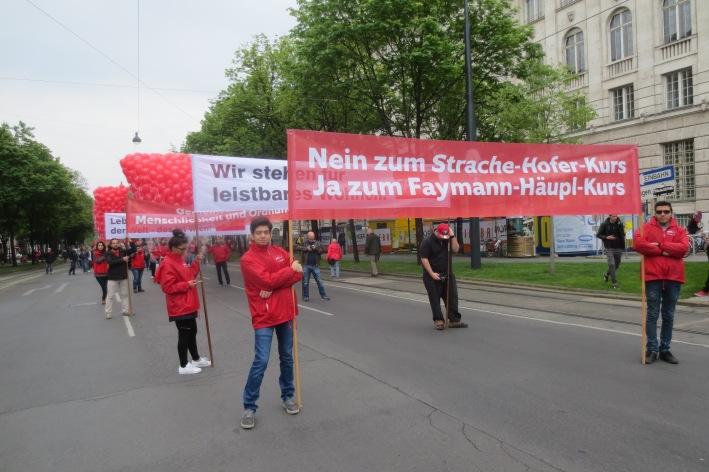 Pro-Faymann-Demonstranten © Wolfgang Stoephasius